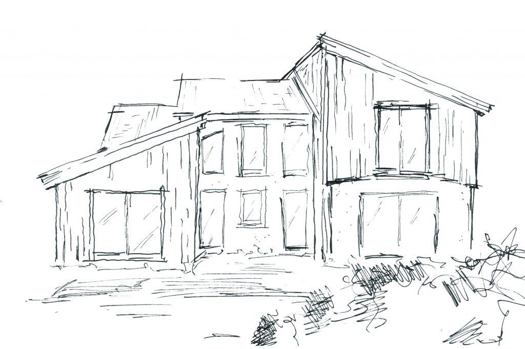 Planskizze eines Hauses