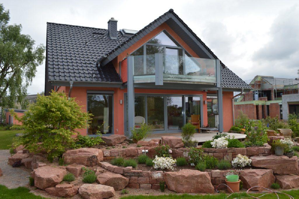 Holzhaus verputzt