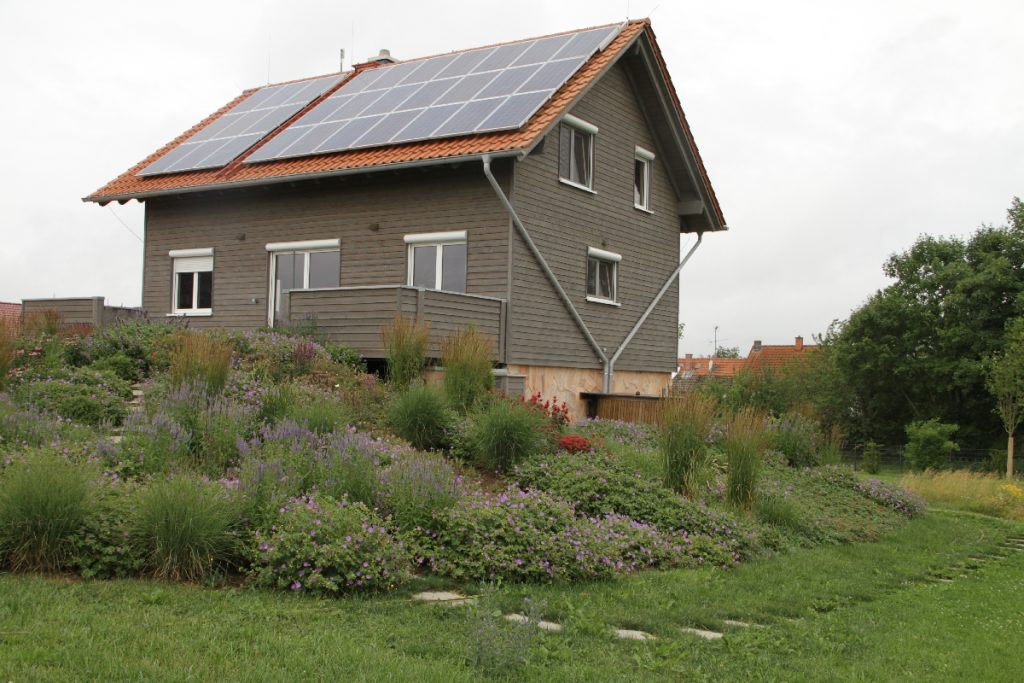 Holzhaus Komplettansicht Verschalung